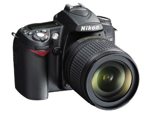 Nikon D90 + AF-S DX NIKKOR 18-105 mm VR + 4GB SD Card SLR-Kamera-Set 12.9MP CMOS 4288 x 2848Pixel Schwarz - Digitalkameras (12,9 MP, 4288 x 2848 Pixel, CMOS, 5,8X, HD, Schwarz)