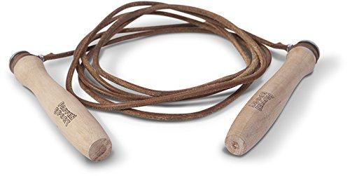 Paffen Sport ALLROUND Twist Springseil aus Leder mit Holzgriffen