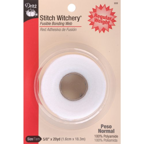 Dritz Stitch Witchery Fusible Bonding Web Regular Weight.625