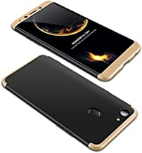 Case OPPO F5 youth 360 Degrees protective Cover + tempered glass film High quality, 3 in1 Full Body protection Bumper hard phone Case Ultra-thin Skin Case,for OPPO F5 youth (Black Gold)
