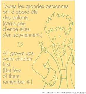 壁360Peel & Stick Wall Decal : Le Petit Prince 'すべてGrownups were子最初' 50.25 in x 60 in イエロー 19619-5153