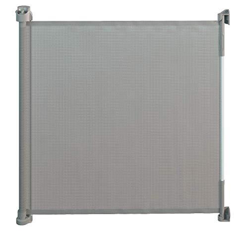 Gaterol Active Lite Grau – Ausziehbares Treppenschutzgitter und Türschutzgitter Rollo bis 140 cm
