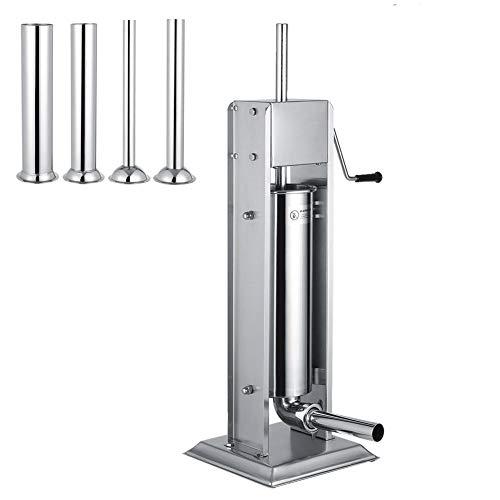 FTVOGUE 7L Acero Inoxidable Vertical Embutidora de Salchichas Máquina para Hacer Salchichas Uso Comercial