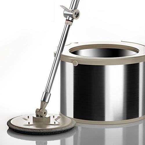 Magic Mop Spinning Mop Bucket Piso Plano Microfibra Spinning Floor Mop Head para mármol de Madera Dura