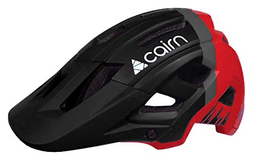 Cairn - Fahrradhelm Erwachsene Berghelm Active Allmountain Schwarz Rot - Dust II - Moutainbike All Terrain Outdoor