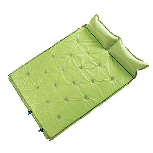 JIAMING Camping Air Bed Automatic Inflatable Cushion Outdoor Travel Camping Double Splicing Self-filling Pad Moisture Pad Portable Floor Mat Automatic Air Bed blow up bed (Color : Green