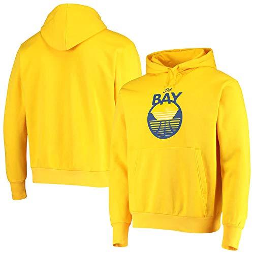 BMSD Camiseta de Baloncesto Unisex NBA Warriors Sudaderas con Capucha Amarillas Hombre Sudaderas de Manga Larga Ropa, XXL