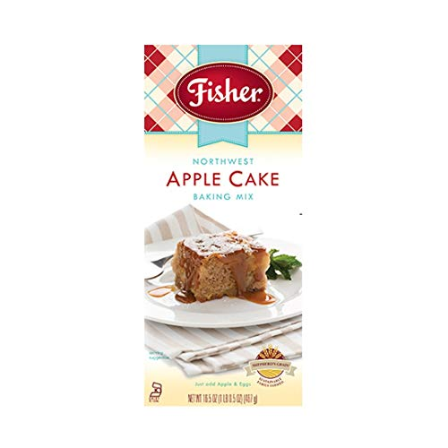 Fisher All Natural Northwest Apple Cake Mix, 16.5 Ounces, Pack of 3
