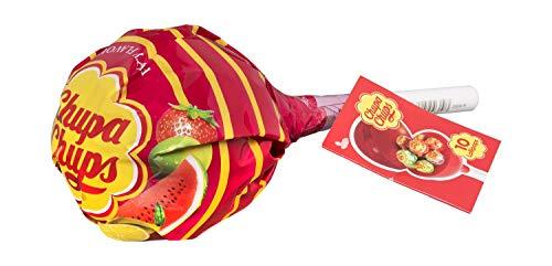 Chupa Chups Original Caramelo con Palo, de Sabores Variados, 10 x 12g