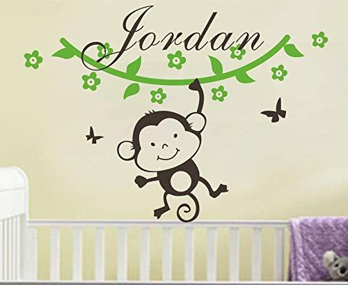 hetingyue muurtattoo, personaliseerbaar, aap, wijn, vinyl, voor slaapkamer, decoratie, baby, jongens, schattig papier