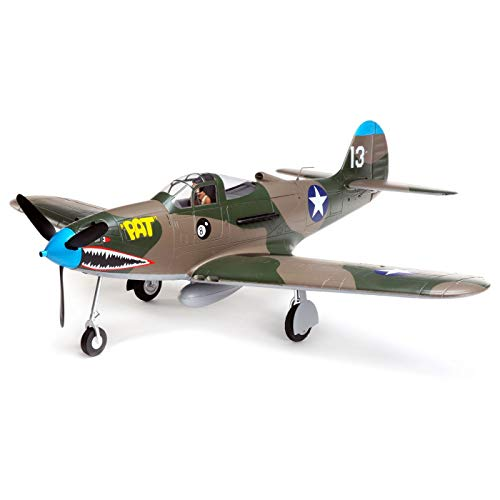 E-flite RC Airplane P-39 Airacobra 1.2m BNF Basic (Transmitter, Battery and Charger not Included) with AS3X and Safe Select, EFL9150