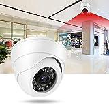 Rosvola Smart Wireless Camera, AHD 720P Dome Security Camera IR Night View Monitor per telecamere di sorveglianza per la Sicurezza Domestica dell'auto(Bianca)