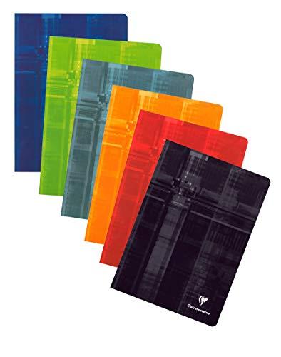Clairefontaine 3120C - Cuaderno grapado A4 interior liso de 80 páginas, colores surtidos, 1 unidad