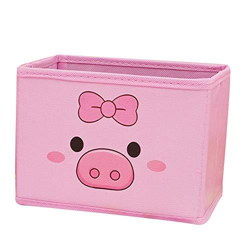 Suministros de oficina Caja de almacenamiento de cerdo lindo titular de lápices de cuero titular de escritorio oficina dormitorio (color: 1)