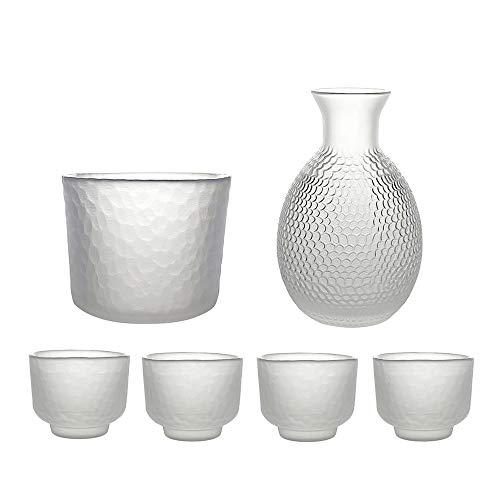 Sake Set Glasses, 9.8 onzas Sake CABAFE CUPS CON 4 SAKI CUP Set para vino en japonés más cálido o frío con conjuntos de regalos