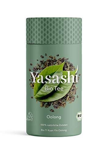 Yasashi Bio Tee | Bio Oolong Tee Ti Kuan Yin | hocharomatisch | 100% natürliche Zutaten | 100% Bio Qualität | 100% recyclefähige Verpackung | 16 Pyramidenbeutel x 1,75g, 105872, 16 x 1,75g