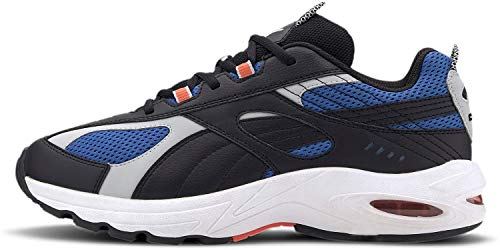 PUMA Zapatillas de correr de malla vibrante para hombre, negro (puma negro-palacio azul), 46 EU