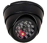 Cámara falsa falsa con reflector de infrarrojos con objetivo y vídeo de vigilancia parpadeante.