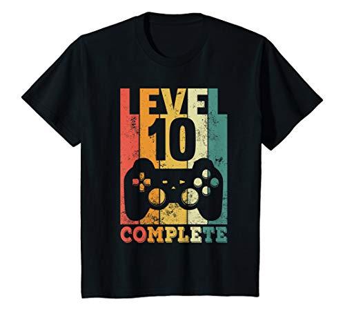 Kinder 10. Geburtstag Junge Gamer Zocker Level 10 Complete Geschenk T-Shirt