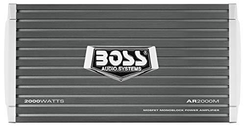 Boss Audio Systems AR2000M - Amplificador para Coche, Gris