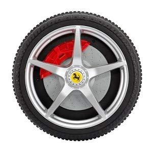 C Media Trade SL Ferrari FXX B08184 Elektroauto Kindersitz aus Leder 12 V Fernbedienung LED (gelb)