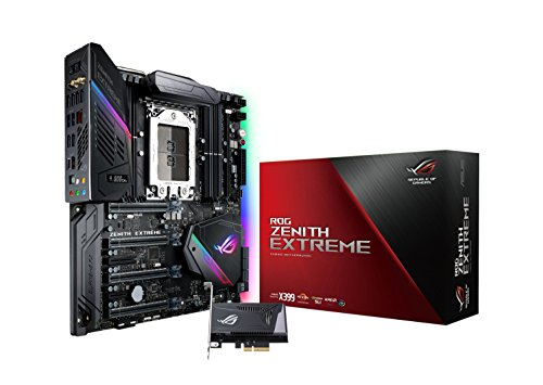 Asus ROG Zenith Extreme Gaming Mainboard Sockel TR4 (eATX, AMD Threadripper X399, Aura Sync, 8x DDR4 Speicher, USB 3.1 Gen 2, M.2 Kühlkörper)