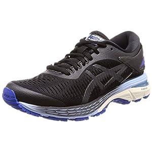 ASICS Women's Gel-Kayano 25 Running Shoes, 5, Black/Asics Blue