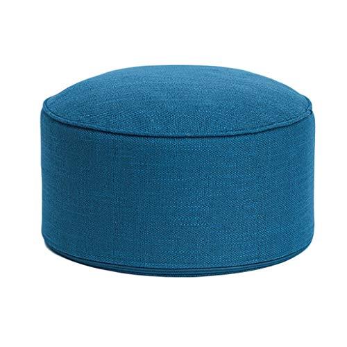 Taburete Bajo Pequeño Reposapies Puff Sofa Salon Oficina Escabel, 40x40x24cm, Gris, H090ZJ (Color :...
