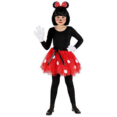 NET TOYS Zauberhaftes Mini Maus Kostüm-Set für Mädchen - Hinreißende Kinder-Verkleidung mit Tutu, Haarreif & Ohren - Bestens geeignet für Kostümfest & Kinder-Karneval