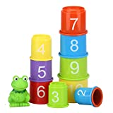 eyscar Stacking Cups Early Educational Toddlers Toy Bathtub Toys with...