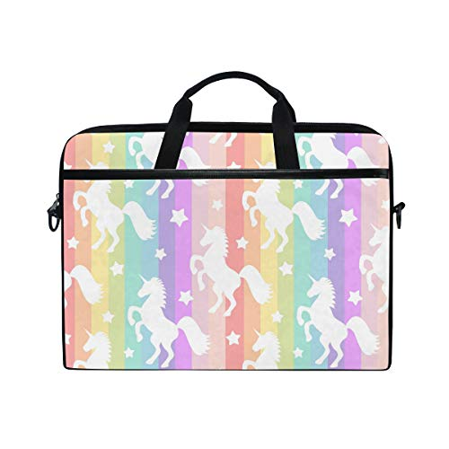 Xling Laptop Handle Bag Geometric Rainbow Animal Unicorn 14-14.5 Inch Computer Notebook Tablet Protect Tote Bag Case Sleeve
