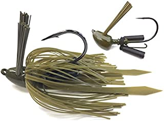 Heavy Mat Jig with Self-Righting Jig Head Fishing Lures to Bait Bass, Bluegill and More