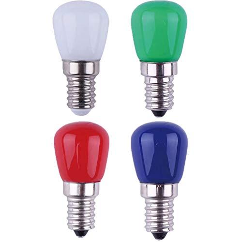 Uonlytech 4 stücke glasschraube farbe lampen 3 watt 220 v e14 ersatz led glühbirnen für lichterketten weihnachten thanksgiving party hochzeit (weiß rot blau grün)