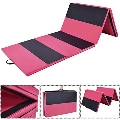 Polar Aurora Thick Folding Gymnastics Gym Exercise Aerobics Mats 4'x10'x2 Stretching Fitness Yoga New Red-Black