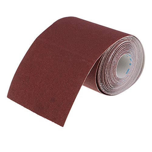 P Prettyia 120 Grit Schmirgelleinen Schleifpapier auf Rolle Set für PVC, Stahl, Stein, Holzbearbeitung Holzdrehen - 6m