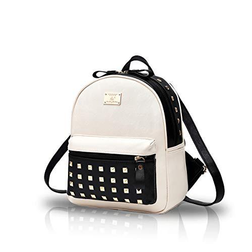 Nicole&Doris HombroLos nuevos bolsos de escuela Mochila los bolsos de las mujeres del recorrido del bolso de la taleguilla metal del cuero de la PU