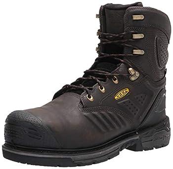 "KEEN Utility Men s CSA Philadelphia+ 8"" 600G Insulated Composite Toe Waterproof Work Boots Construction Cascade Brown/Black 12"