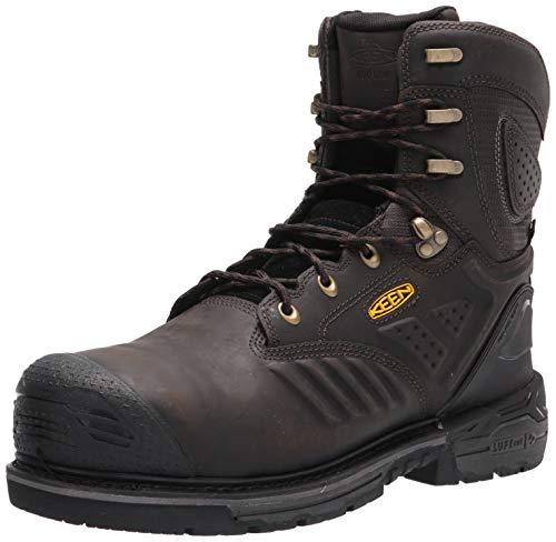 "KEEN Utility Men's CSA Philadelphia+ 8"" 600G Insulated Composite Toe Waterproof Work Boots Construction, Cascade Brown/Black, 9"