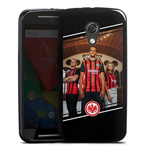 DeinDesign Silikon Hülle kompatibel mit Motorola Moto G2 Case schwarz Handyhülle Trikot Offizielles Lizenzprodukt Eintracht Frankfurt