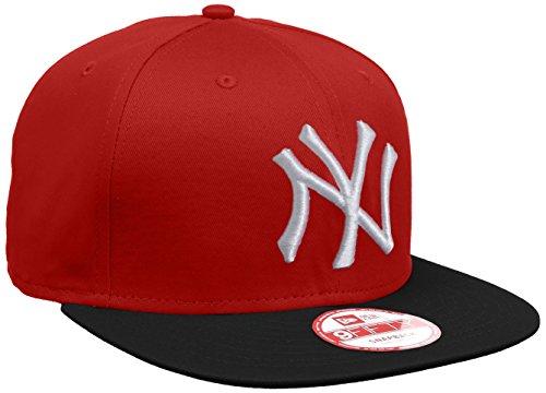 New Era Erwachsene Baseball Cap Mütze MLB 9 Fifty Block NY Yankees Snapback, Scarlet/Black/White, S/M