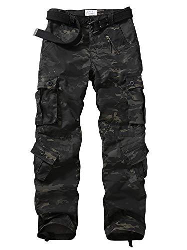TRGPSG Pantalones de Senderismo Ligeros para Hombre Pantalones de Carga Salvaje Ripstop...
