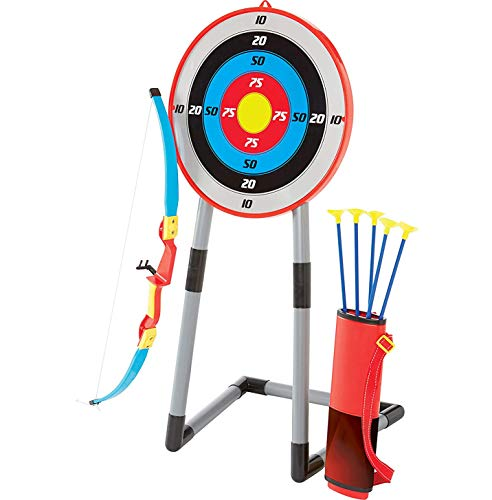 RCTOYS Bow and Arrow for Kids Toy Archery Set, Toy Archery Bow with Large Freestanding Target with Target for Boys and Girls Age 5-12 Years Old Best Gift for Children