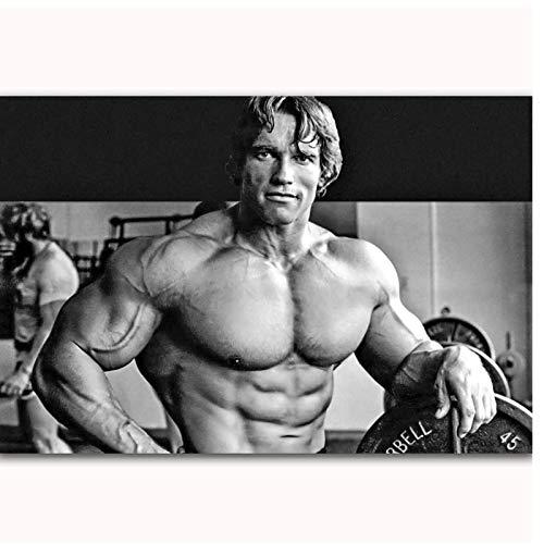 Arnold Schwarzenegger Bodybuilding Fitness Gym Hot New Art Poster Top Canvas Decoración para el hogar Imagen de pared Impresiones-50x100cm Sin marco