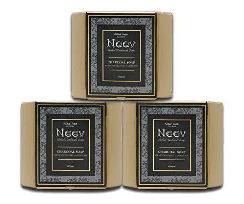Neev Herbal Handmade Soaps Charcoal Soap (100gm) - Set of 3