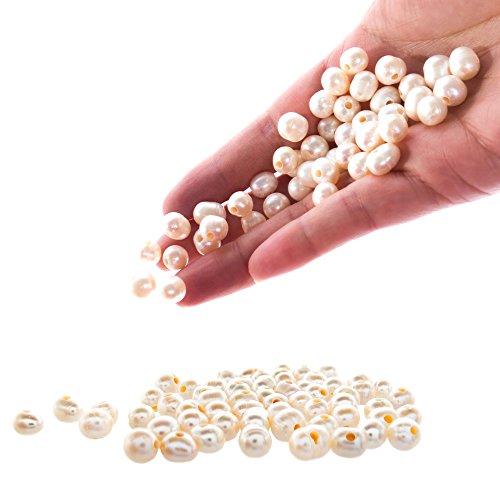 Pearl Bracelet for Women,Girls,Kids,Teens | 3 Piece Set |Cultured Freshwater Pearl Beads | Stretch Bracelet | Handpicked Beads 6-8 mm | Great gift | USA Seller
