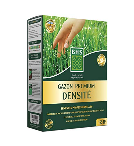 BHS GPD25   2.5Kg   125 m²   Gazon Premium Densité   100 % semences enrobées   Finesse et douceur extrême   Pousse lente   Gazon dense