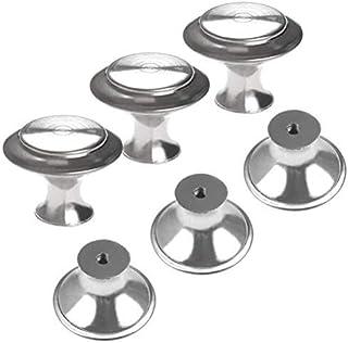 FOCCTS 25pcs Pomos de acero Inoxidable con Tornillos M4*35mm para Alacena Baño Cocina Gabinetes Muebles Cajón de la Oficina Puertas de Ducha