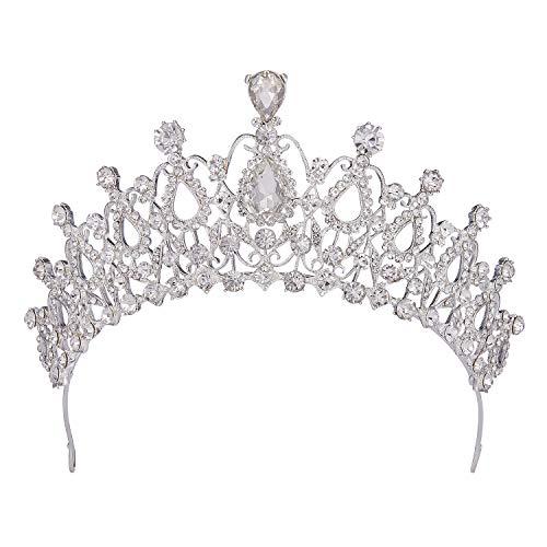 Topwedding Wedding Birdal Pageant Princess Tiara Headband Hair Band Crown con Diamantes de Imitación, Mujeres