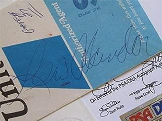 Lew Alcindor Autographed Signed 1970 United Airlines Ticket Holder - PSA/DNA & JSA - So Rare