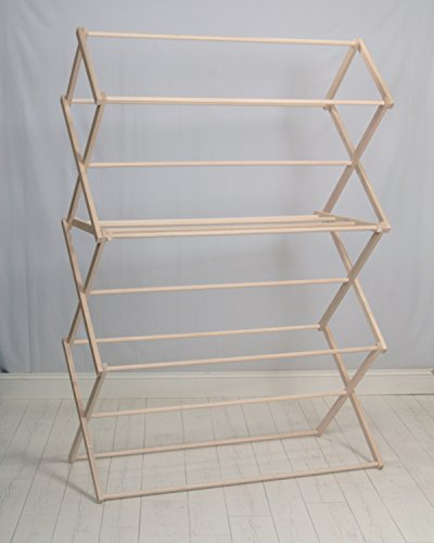 Pennsylvania Woodworks Clothes Drying Rack (Made in The USA) Heavy Duty 100% Hardwood (LG)
